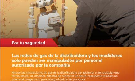 Por una red de gas y medidores seguros